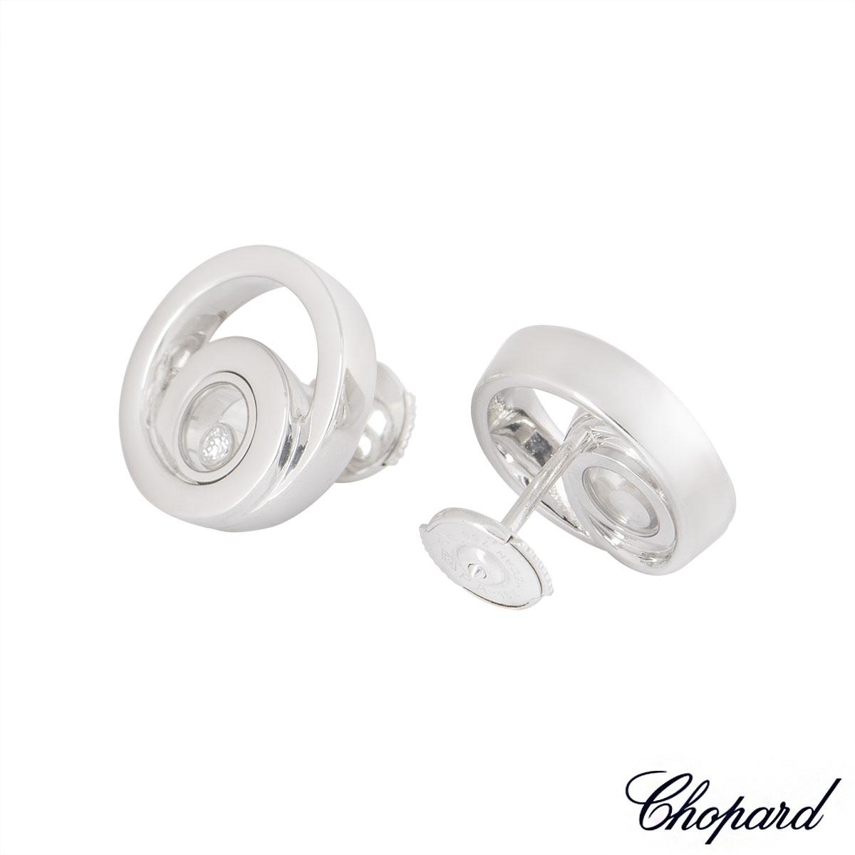 Chopard White Gold Happy Diamonds Earrings 837108-1002